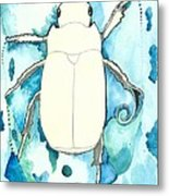 Beetle Swim Metal Print