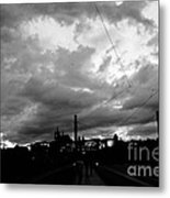 Before Rain In Prague Metal Print