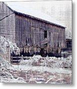 Behind The Barn Metal Print
