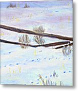 Being The Fence Metal Print