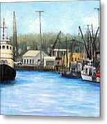 Belford Fishing Seaport Nj Metal Print