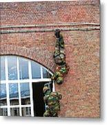 Belgian Paratroopers Rappelling Metal Print by Luc De Jaeger