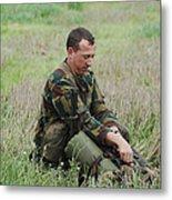 Belgian Paratroopers Red Berets Metal Print