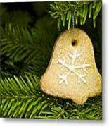 Bell Shape Short Bread Cookie Metal Print