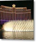 Bellagio Fountains 4 Metal Print by Charles Warren