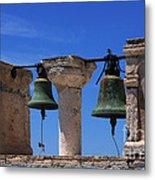 Bells Of Santorini Greece Metal Print