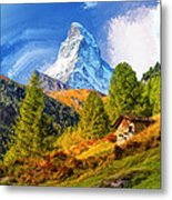Below The Matterhorn Metal Print