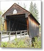 Bement Covered Bridge Metal Print