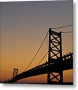 Ben Franklin Bridge Sunrise Metal Print