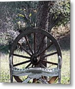 Bench For Two Metal Print