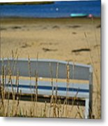 Bench On The Beach Metal Print