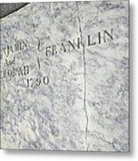 Benjamin Franklin's Grave Metal Print by Snapshot Studio