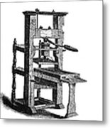 Benjamin Franklins Printing Press Metal Print