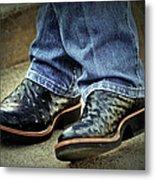 Bennys Boots Metal Print