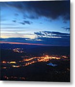 Berkshire Evening From Spruce Hill Savoy Mountain Metal Print
