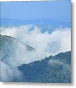 Berkshire Mist Deerfield River Valley Metal Print