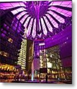 Berlin Sony Center Metal Print