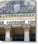 Berliner Reichstag Metal Print
