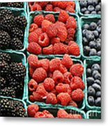 Berry Baskets Metal Print