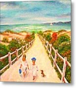 Beth And Johnny At The Beach Metal Print