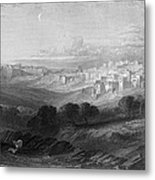 Bethlehem Engraving By William Miller Metal Print
