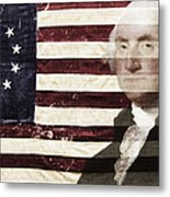 Betsey And George Flag Metal Print