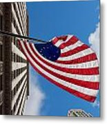 Betsy Ross Flag In Chicago Metal Print