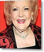 Betty White At Arrivals For Time 100 Metal Print by Everett