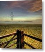 Between The Lines Metal Print
