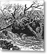Bewick: Man Drowning Metal Print