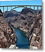 Beyond The Hoover Dam Spillway Metal Print