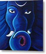 Bhalchandra-moon Crested Lord Ganesha Metal Print