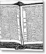 Bible, 19th Century Metal Print