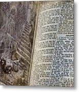 Bible Pages Metal Print