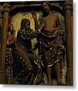 Biblical Scene At Notre Dame Paris Metal Print