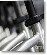 Bicycle Frame Metal Print