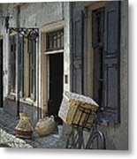 Bicycle On A Street By The Zuider Zee  Metal Print