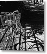 Bicycle Shadow 2 Metal Print