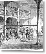 Bicycle Tournament, 1869 Metal Print