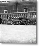 Bicycles In Black And White Metal Print