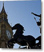 Big Ben And Boadicea Statue  Metal Print