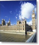 Big Ben And Houses Of Parliament, London, Uk Metal Print