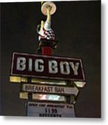 Big Boy At The Top Metal Print