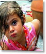 Big Brown Eyes Metal Print