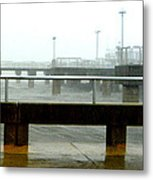 Big Dock Tropical Storm Metal Print by Sheri McLeroy