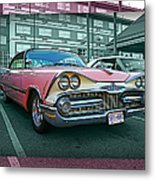 Big Pink Dodge Metal Print