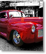 Big Red Abstract Metal Print