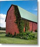 Big Red Barn On Rt 227 Metal Print