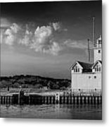 Big Red Lighthouse In Holland Michigan Metal Print