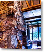 Big Sky Lodge Interior Metal Print